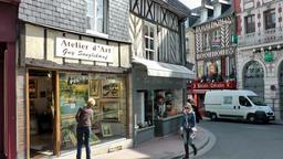 Europe France Normandy fishing village of Honfleur 039 art atelier at a corner