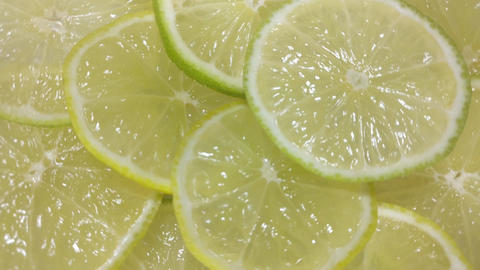 Lime slices as background Footage