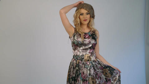 Fashion photo shoot with photographer and beautiful female model Footage