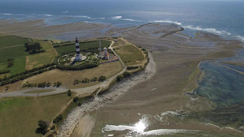 Chassiron lighthouse seen by drone, Saint Denis d'Oléron Footage