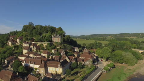 Limeuil, one of the most beautiful villages in France seen by drone Footage