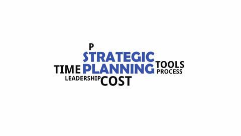 Kinetic typography strategic planning CG動画素材