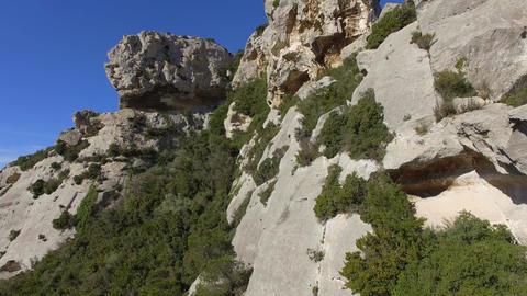 Quarry Baux-De-Provence, seen by drone Footage