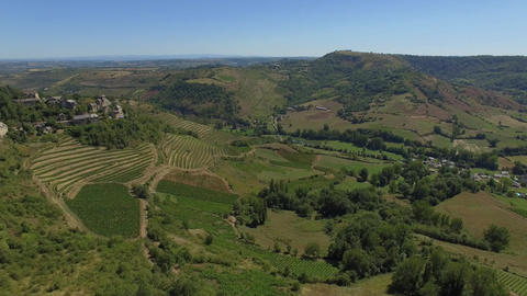 Vallon Marcillac seen by drone in summer Live-Action