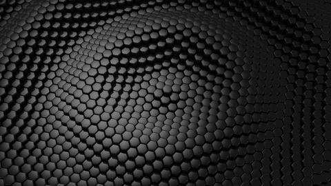 Background From Animated Hexagons CG動画素材