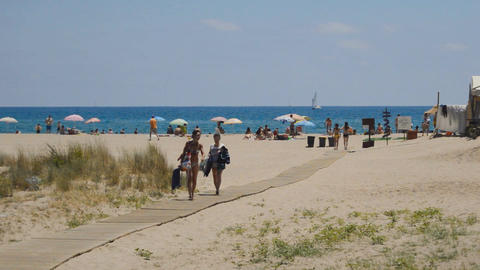 Wooden Path To The Beach Image