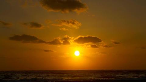 Golden Sunset near seattle timelapse Footage