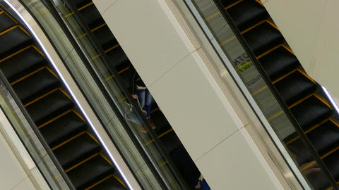 4K Ungraded: People on Escalators Footage