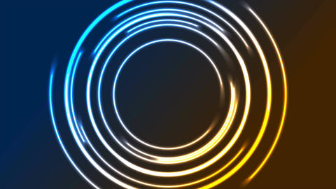 Colorful glowing neon circles video animation Animation