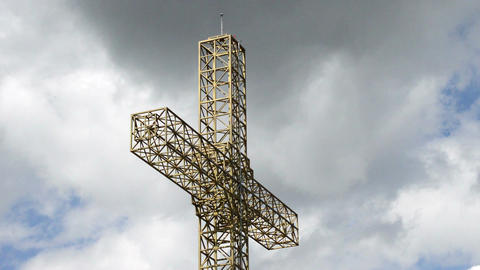Steel crucifix. Large steel cross Live Action