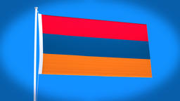 the national flag of Armenia CG動画