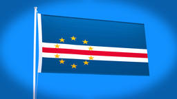the national flag of Cape Verde Animation