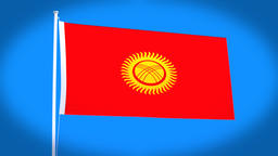 the national flag of Kyrgyzstan Animation