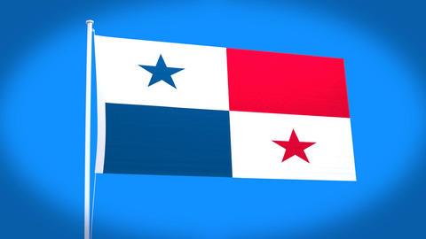 the national flag of Panama Animation