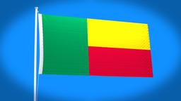 the national flag of Benin CG動画