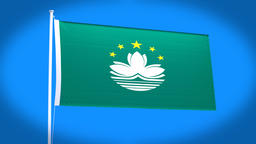 the national flag of Macao CG動画