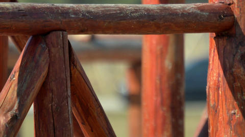Close up of Stairs wood on playground Footage