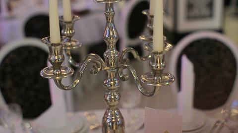 Candlestick decorations for wedding ceremony