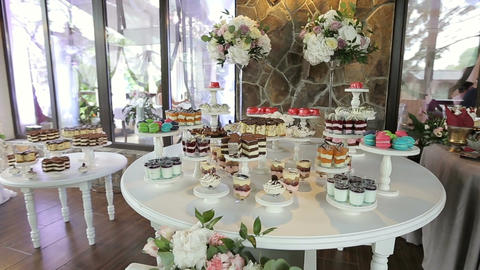Candy Bar Wedding, candy buffet, delicious Candy bar at a wedding Live Action