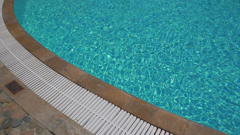 Outdoor swimming pool with turquoise water Footage