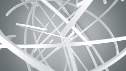Lines fly on orbit 3D render animation seamless loop Animation