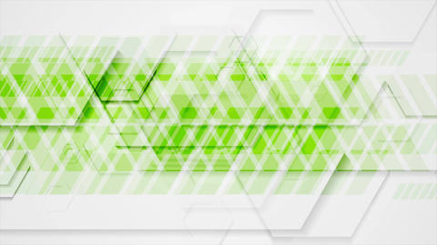 Bright green tech geometric abstract video animation CG動画素材