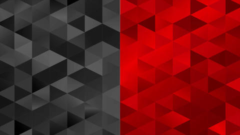 Contrast red black pixelated triangles mosaic video animation Animation
