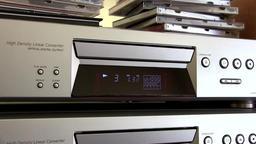 CD Player Playing Music Disc ビデオ