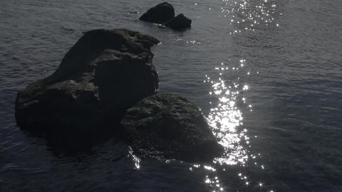 The reflection of the sun in the water, the sun's glare on the surface of the se Footage