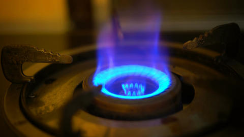 Lighting gas burner Filmmaterial