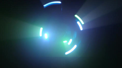 Green light streaks spinning seamless loop Footage