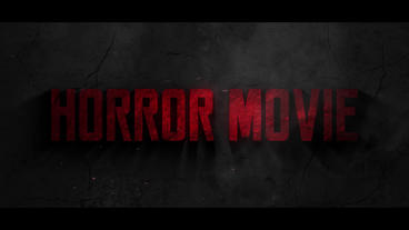 Horror movie Title After Effects Template