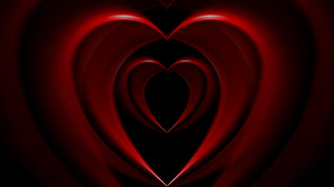 Bright red hearts video animation Animation