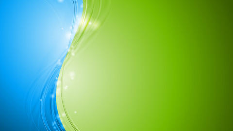 Bright green and blue shiny waves video animation Animation