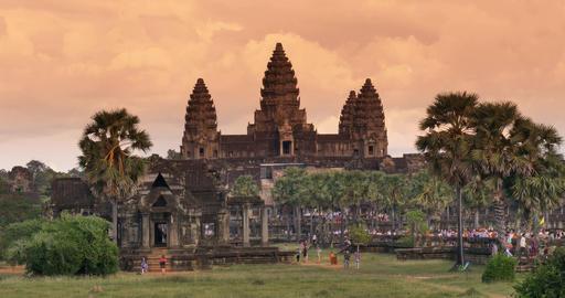 Tourist travel landmark of Angkor Wat Cambodia ancient civilization temple ภาพไม่มีลิขสิทธิ์
