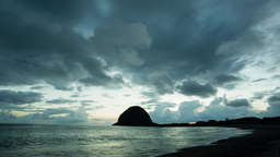 4K timelapse of sunset at Taitung shore Footage