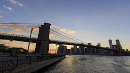 4K Timelapse of brooklyn bridge at New York City Footage