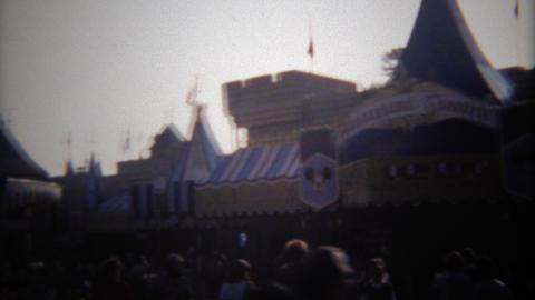 1979: Disneyland Fantasy Theatre building attracts a crowd Footage