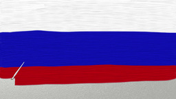 Hand painted flag of Russia animation Animation