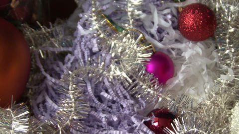 Christmas tinsel and balls Footage