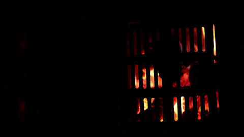 Burning wood in a stove 02 Footage