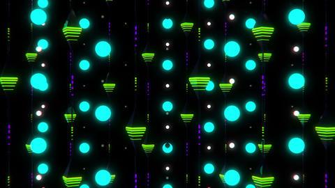 Neon Rain VJ Loop 4 Animation