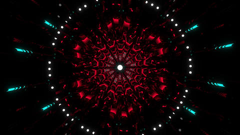 Neon Pulsar VJ Loop Animation
