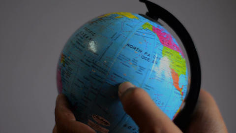 Close shot of globe studying Footage