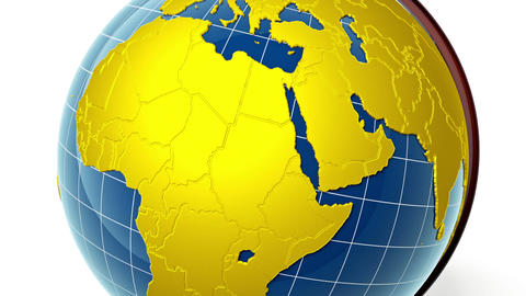 Golden Globe, Zoom To Africa stock footage