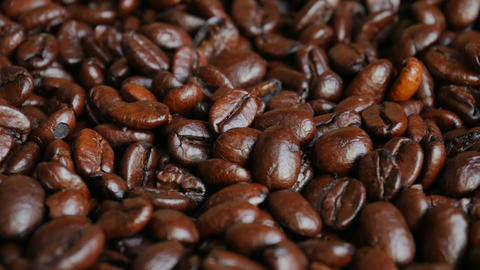 Dark roasted coffee beans Live Action