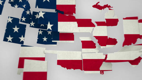 USA Map States Combine Stock Video Footage