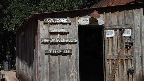 Luckenbach Texas - Entrance to Hondo's Bar Live Action