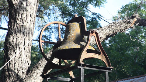 Old church bell ringing Footage