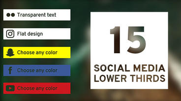 15 Social Media Lower Thirds Plantilla de After Effects
